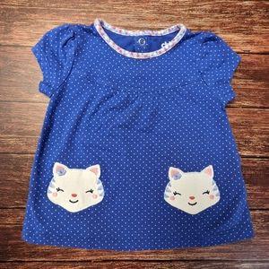 Polka Dot Kitty Cat Shirt